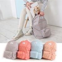 Forest animals after fresh style Foldable Backpack Shoulder Bag