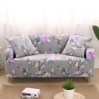 (歐卓拉)Peony Pavilion elastic sofa cover double seat