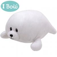 I Bow Plush Animal - White Seal