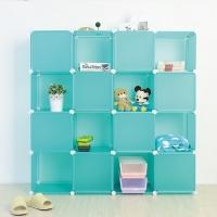 (ikloo)[ikloo] 16 grid 16 door storage cabinet - green