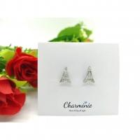 Pure Sliver 925 Eiffel Tower Earrings-Charminie