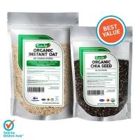 (BUNDLE 2) Organic Chia Seed 200g + Organic Instant Oat 500g