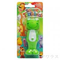 (一品川流)Q animal carrying bouncy children's toothbrush -8 only above - frog