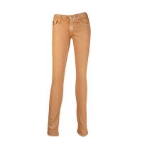 (truereligion)[United States True Religion] female Halle mid-rise gold skinny jeans