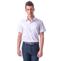 (Kinloch Anderson)[Anderson] White Wide Dark Stripe Short Sleeve Shirt