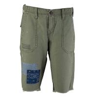 (truereligion)[United States True Religion] male REPAIRED PEACE uniform shorts
