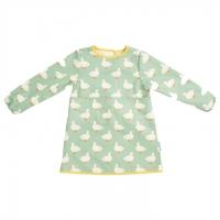 (jojo maman bebe)British JoJo Maman BeBe Children's Multifunctional Dirtproof and Waterproof Learning Clothes/Drawing Clothes_Cute Little White Duck (JJE6578)