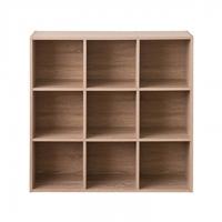 TZUMii 比爾堆疊九格櫃-淺橡木色