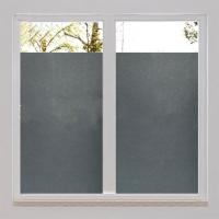 品味居家質感生活★陽台窗戶浴室霧面無膠磨砂靜電玻璃裝飾窗貼抗UV 防紫外線加厚隔熱膜紙-純黑霧面