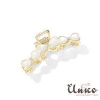 (UNICO)UNICO Korean goddess opal metal plate hairpin/shark clip
