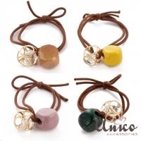 (UNICO)UNICO Korean Sweet Girl Morandi Color Hair Tie-4pcs