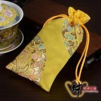 """(財神小舖)The God of Wealth Shop【SM-0012-8】Zodiac Sheep-Good Luck Blessing Bag (Golden) """"With Consecration"""""""