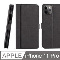 (CASE SHOP)CASE SHOP iPhone 11 Pro hot-press front storage holster - black