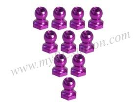 4.8MM Hex Ball Stud L=5 (10 pcs) Purple #3RAC-BS48H5/PU