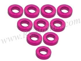 Aluminium M3 Flat Washer 1.5mm (10 Pcs) Pink #3RAC-WF315/PK