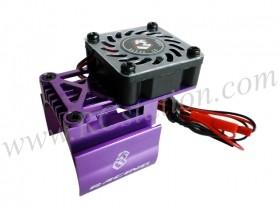 Extended Motor Heat Sink W/ Fan Ver.2 For 540 Motor (High Finger) - Purple #3RAC-MHS7/PU/V2