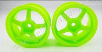 Fluorescent Green Wheel,4pcs #2062G