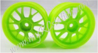 Fluorescent Green Wheel,4pcs #2066G