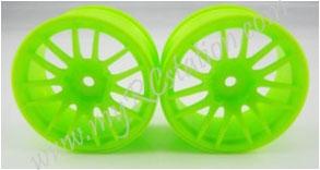 Fluorescent Green Wheel,4pcs #2067G