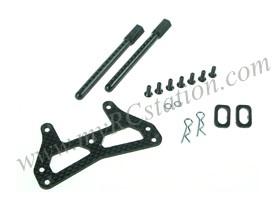 Front Graphite Bumper Stiffener For TA-05 #TA05-01/WO