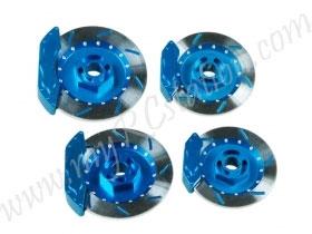 Realistic Brake Disk Set - Light Blue #3RAC-AD12/V2/LB