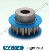 Square Alu. Center Pulley 14T Blue #SGE-314