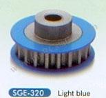 Square Alu. Center Pulley 20T Blue #SGE-320