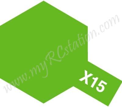 X15 Light Green Enamel Paint (Gloss)
