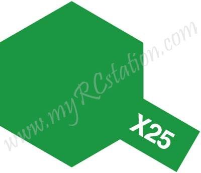 X25 Clear Green Enamel Paint (Gloss)