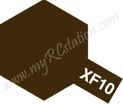 XF10 Flat Brown Enamel Paint (Flat)