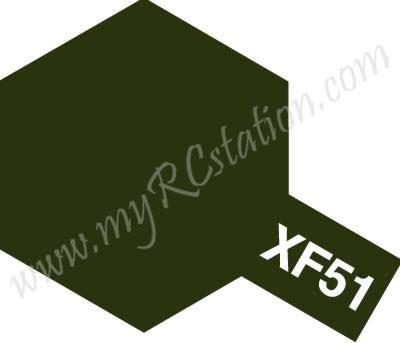 XF51 Khaki Drab Enamel Paint (Flat)