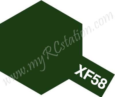 XF58 Olive Green Enamel Paint (Flat)