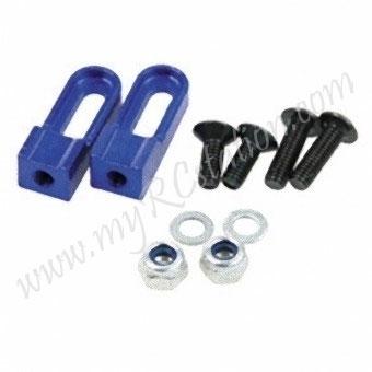 SP Light Weight Servo Mount L(Hi Adj 11~16mm)[Blue] #ER.3303-BL