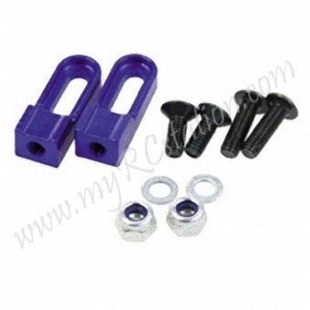 SP Light Weight Servo Mount S(Hi Adj 10~15mm)[Purple] #ER.3302-PU