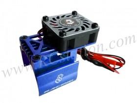 Extended Motor Heat Sink W/ Fan Ver.2 For 540 Motor (High Finger) - Blue #3RAC-MHS7-BU/V2
