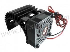 Motor Heat Sink W/ Fan Ver.2 For 540 Motor  (Fan-Shaped) - Black #3RAC-MHS5-BL/V2