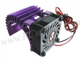 Motor Heat Sink W/ Fan Ver.2 For 540 Motor (Fan-Shaped) - Purple #3RAC-MHS5-PU/V2