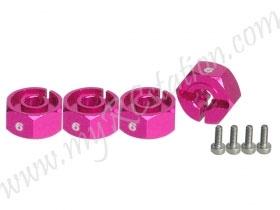 Wheel Adaptor (6mm) - Thick (PINK) #3RAC-WX126/PK