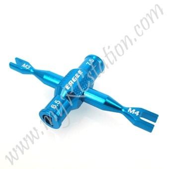 SP Dual Turnbuckle Wrench(3mm/4mm)W/ Winder[LBL] #ER.3723V2-LBL