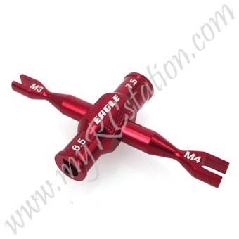 SP Dual Turnbuckle Wrench(3mm/4mm)W/ Winder[RE] #ER.3723V2-RE