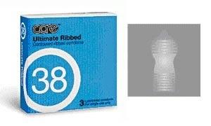 Care 38 Ultimate Ribbed Condom - 3's