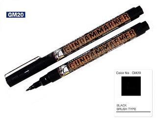 Gundam Marker Pen - Water Based GM20 (Black)