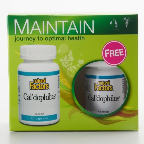 Natural Factors - Caldophilus (90 Capsules + 30 Capsules) Probiotic