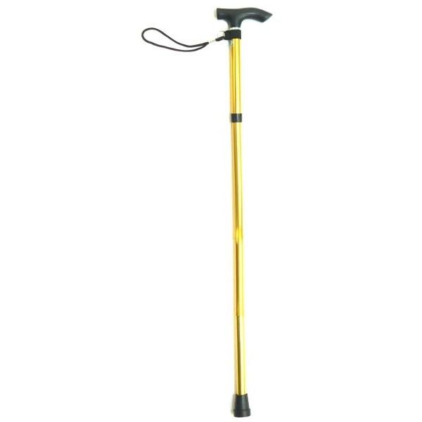 Adjustable Aluminium Folding Walking Stick With Strap (AR927(L))