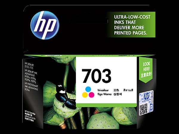 HP CD888AA 703 Tri-Colour Genuine Original Printer Ink Cartridge