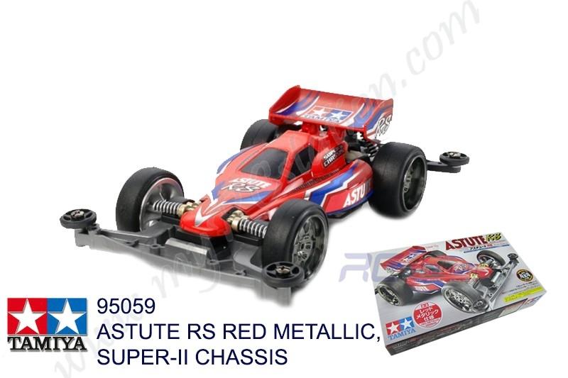 Tamiya  ASTUTE RS RED METALLIC, SUPER-II CHASSIS #95059