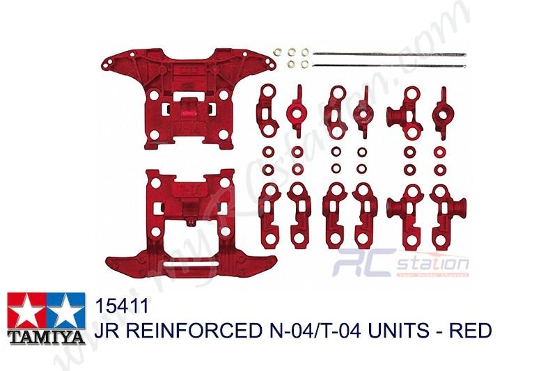 Tamiya  JR REINFORCED N-04/T-04 UNITS - RED  #15411
