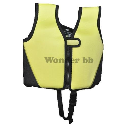 Kid/Baby Swim Vest with PE Foam Floater (Yellow)