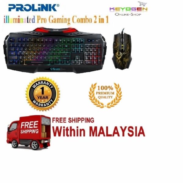100%Original PROLiNK®Premium Quality Gaming Mouse + Keyboard Combo set