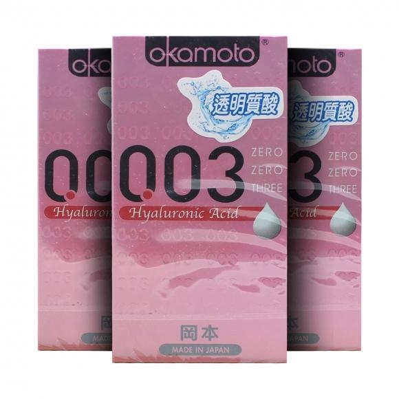 3 Boxes OKAMOTO 003 HYALURONIC-ACID CONDOM 6'S PACK